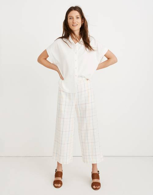 Huston Pull On Crop Pants In Rainbow Windowpane by Madewell