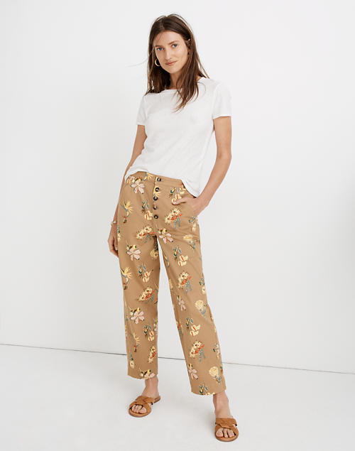 Greenwich Relaxed Pants In Hawaiian Hideaway by Madewell
