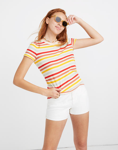 Lo Fi Shrunken Tee In Lennie Stripe by Madewell
