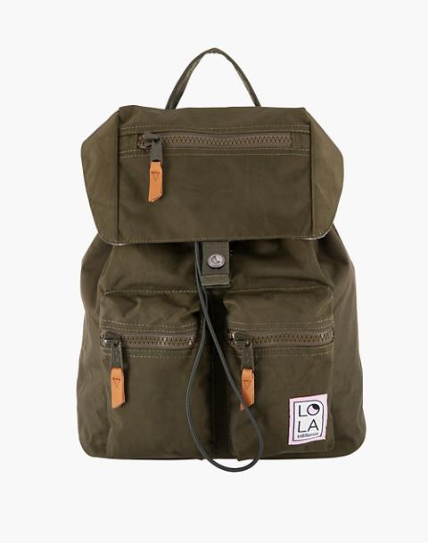 LOLA™ Mondo Phantasm Large Drawstring Backpack in dark green image 1