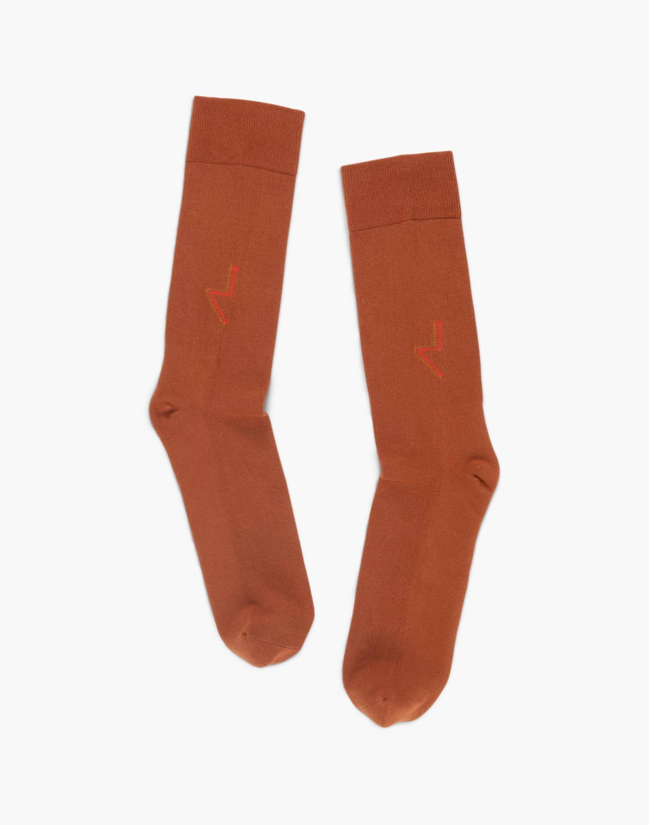 Tailored Union® Men's Vacher Crew Socks in brown image 1