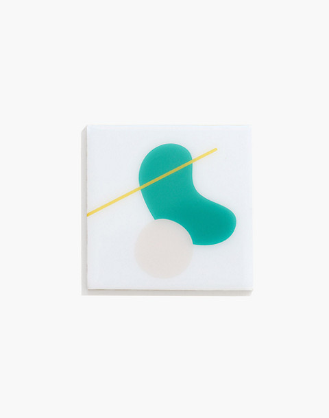 Esselle™ Resin Coaster Set in Abstract Green in multi pattern image 1