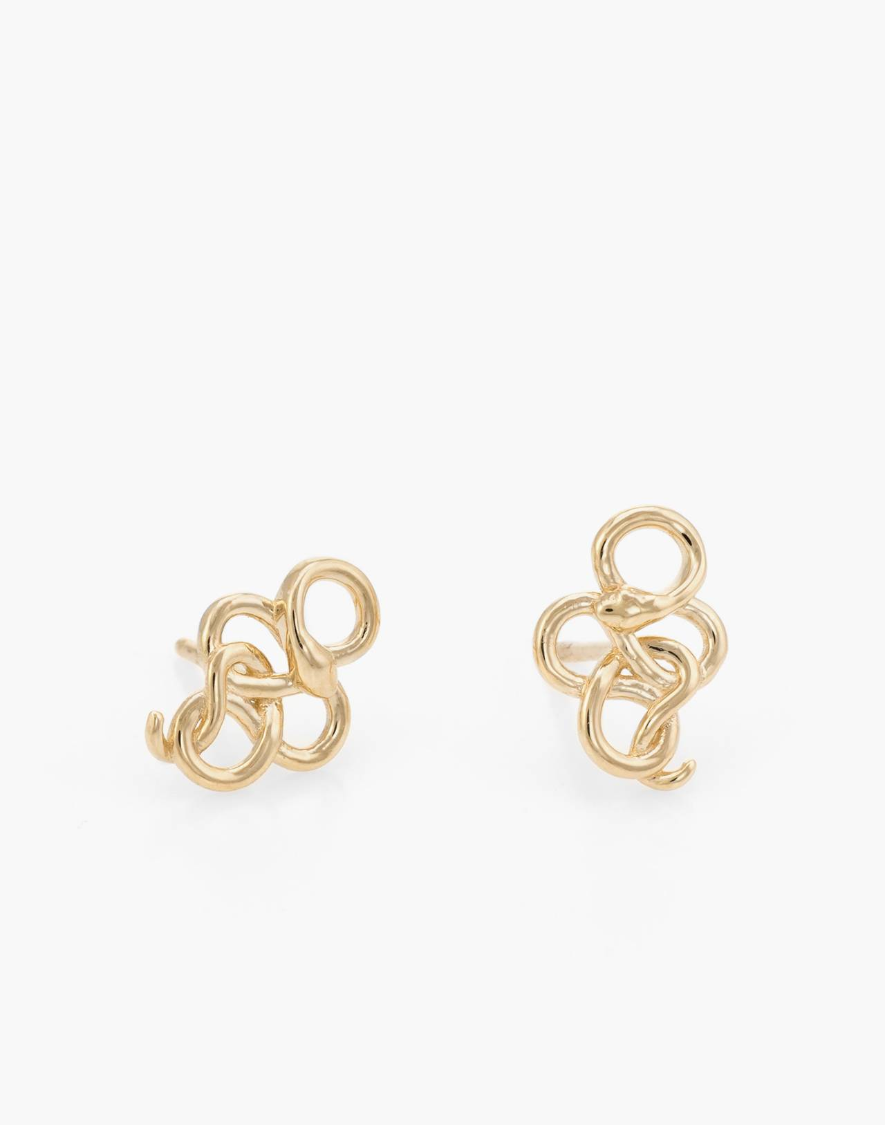 Dream Collective™ 14k Gold Snake Stud Earrings in gold image 1