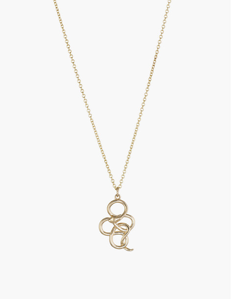 Dream Collective™ 14k Gold Victorian Snake Pendant Necklace in gold image 1