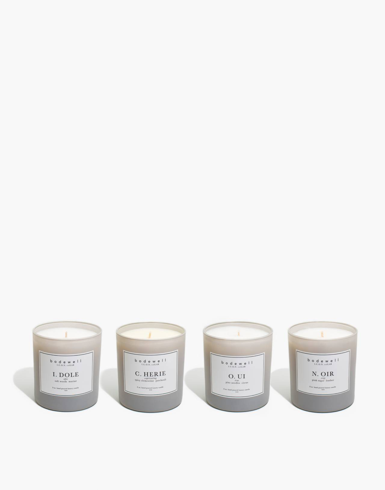 Bodewell Home I.C.O.N. Candle Set in one color image 1