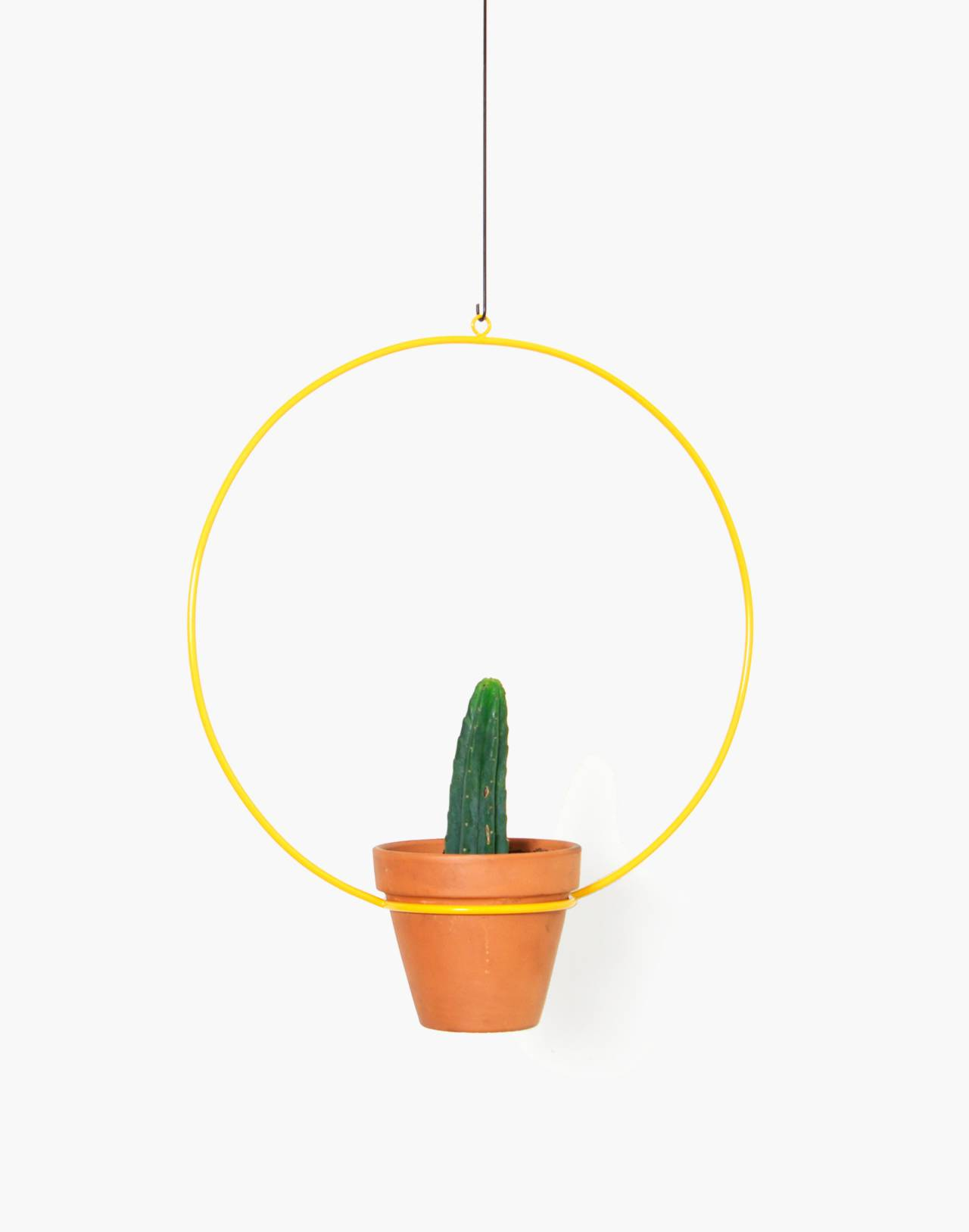 "NEWMADE LA 18"" Hanging Circle Planter in yellow image 1"