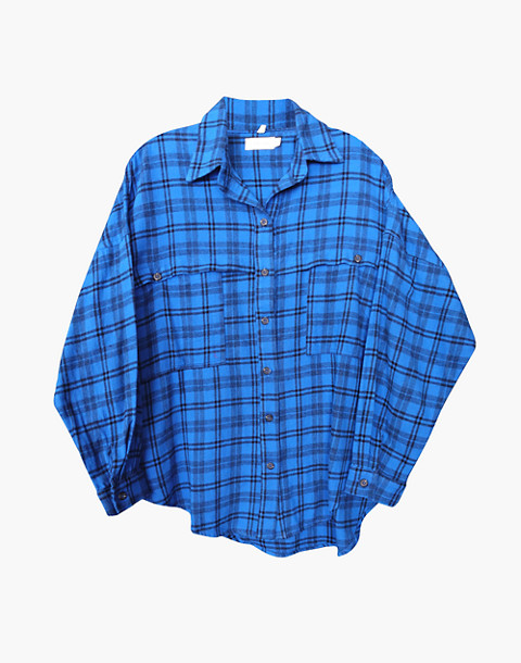 NICO NICO™ Alanis Plaid Button-Down Shirt in blue image 1