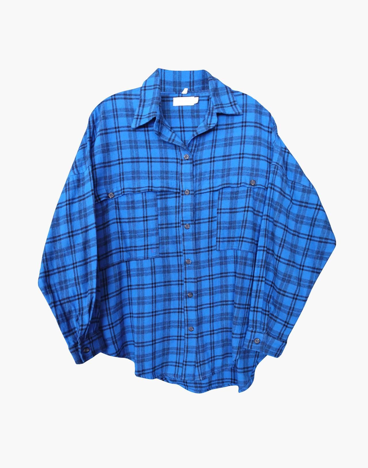 NICO NICO™ Alanis Plaid Button-Down Shirt in blue image 1