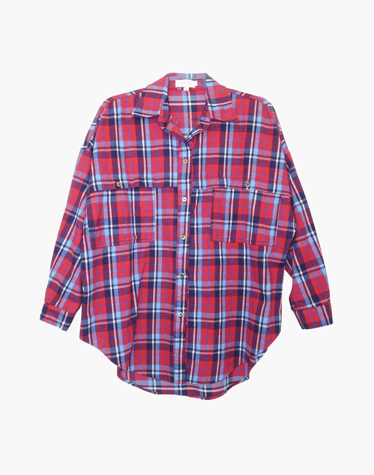 NICO NICO™ Alanis Plaid Button-Down Shirt in red multi image 1