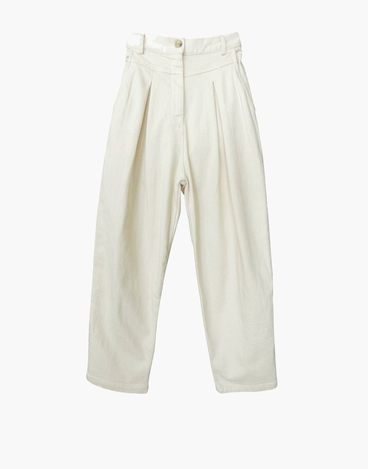 NICO NICO™ Jet Pleated Jeans in ivory white image 1