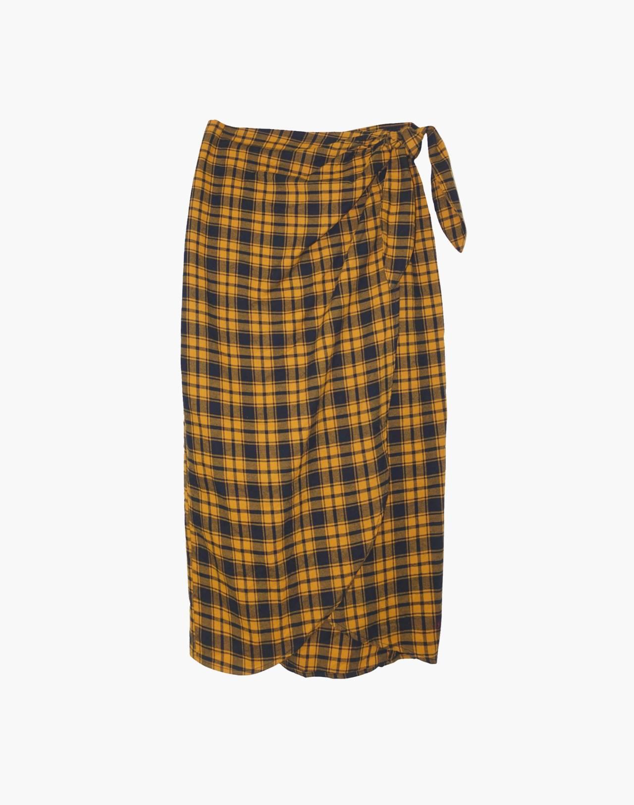 NICO NICO™ Lauper Plaid Wrap Skirt in yellow image 1