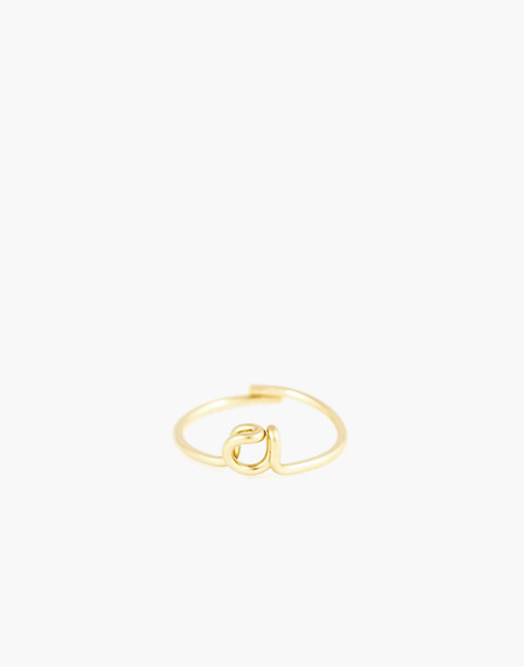 Atelier Paulin™ Poetic Letter Ring in letter a image 1