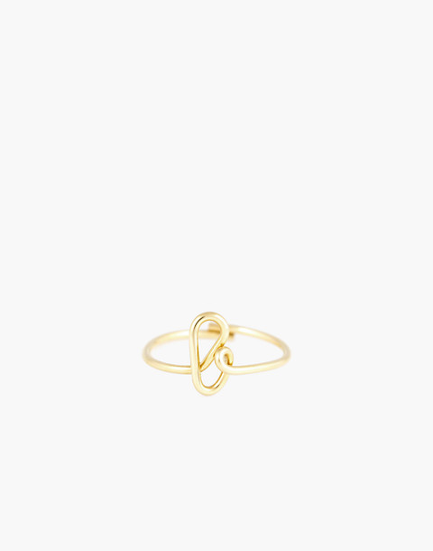 Atelier Paulin™ Poetic Letter Ring in letter b image 1