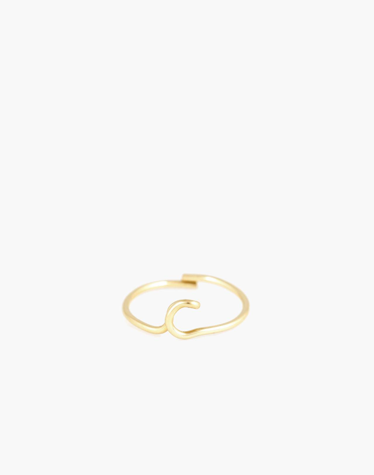 Atelier Paulin™ Poetic Letter Ring in letter c image 1