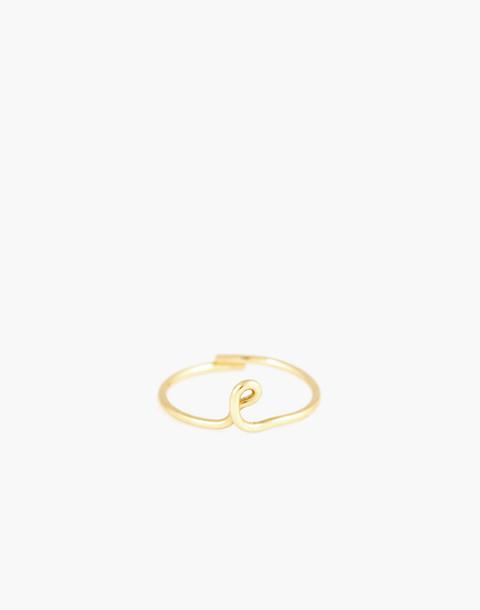 Atelier Paulin™ Poetic Letter Ring in letter e image 1