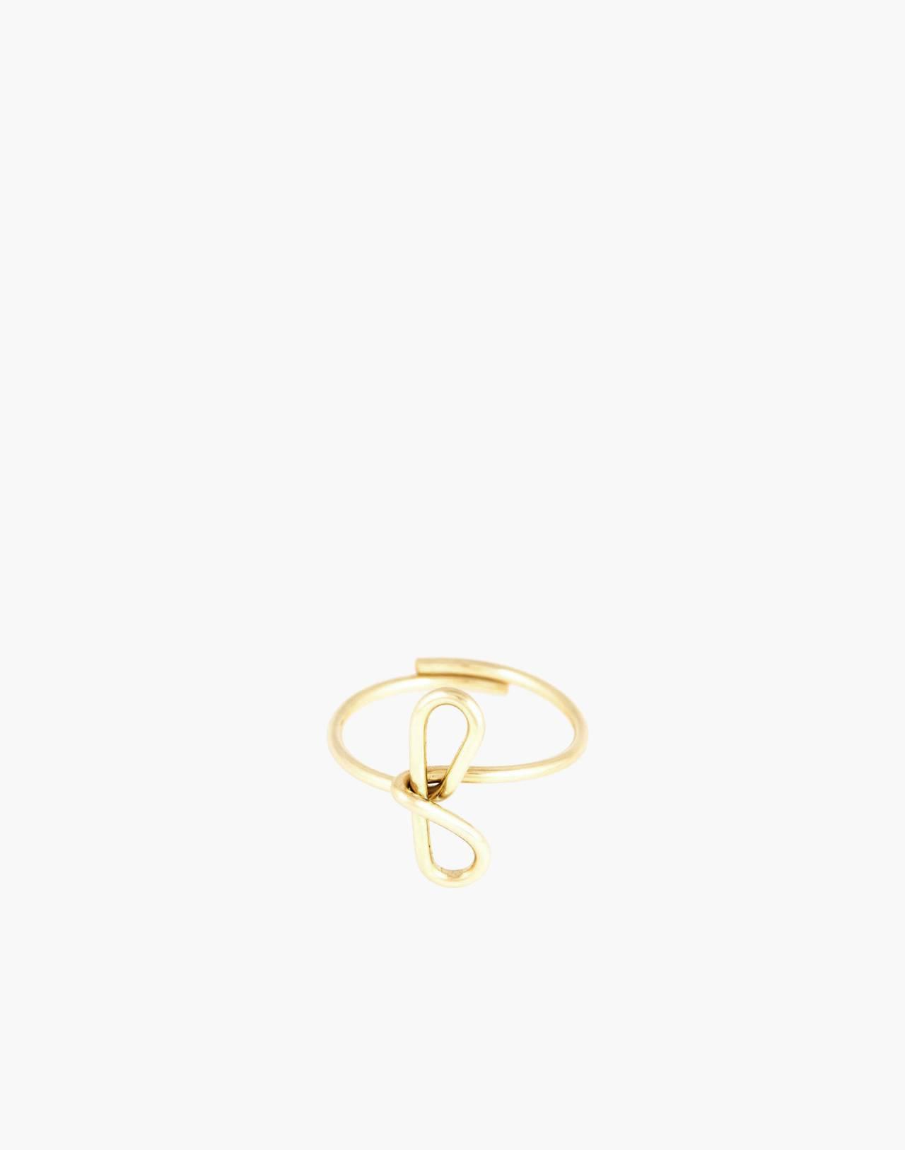 Atelier Paulin™ Poetic Letter Ring in letter f image 1