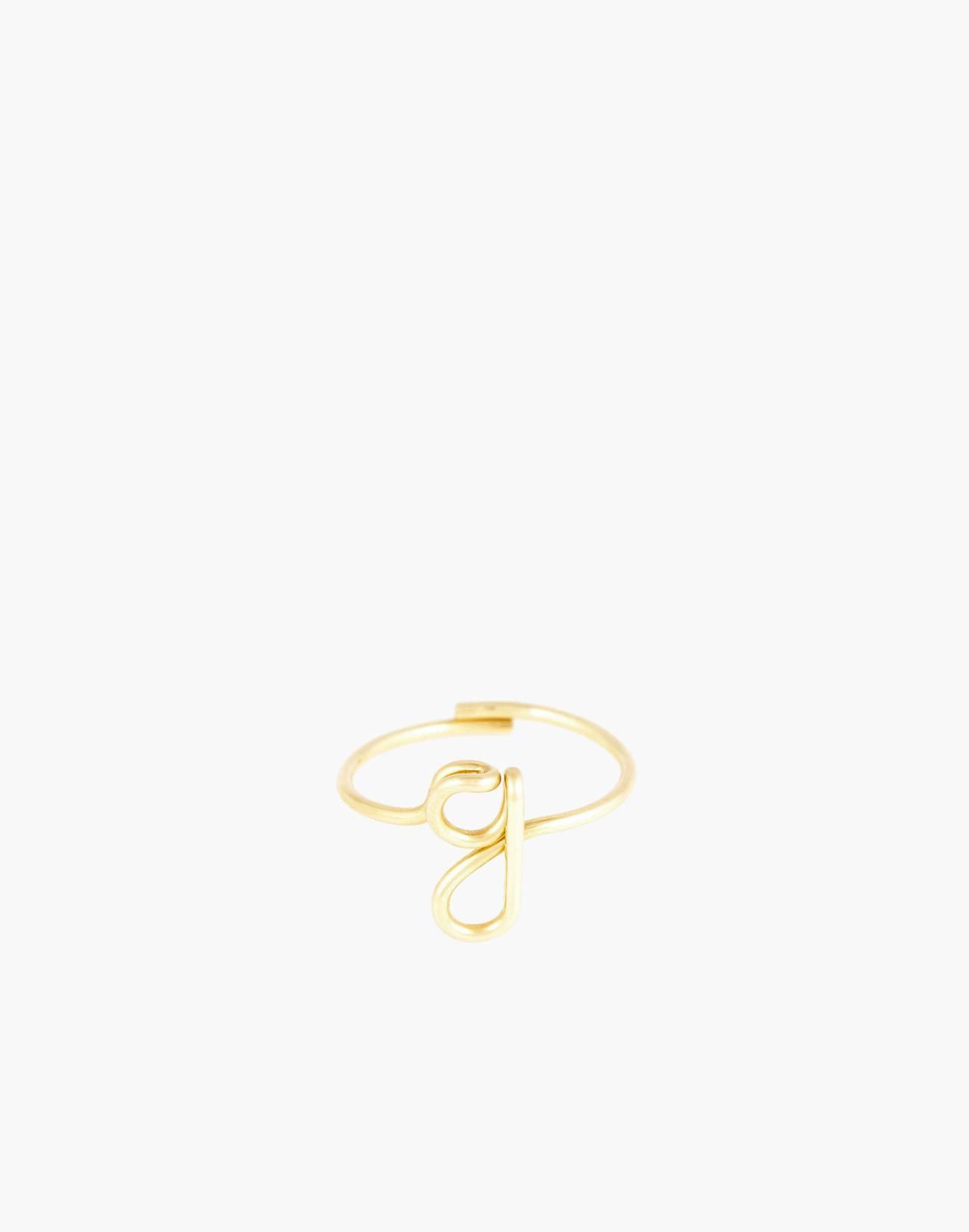 Atelier Paulin™ Poetic Letter Ring in letter g image 1