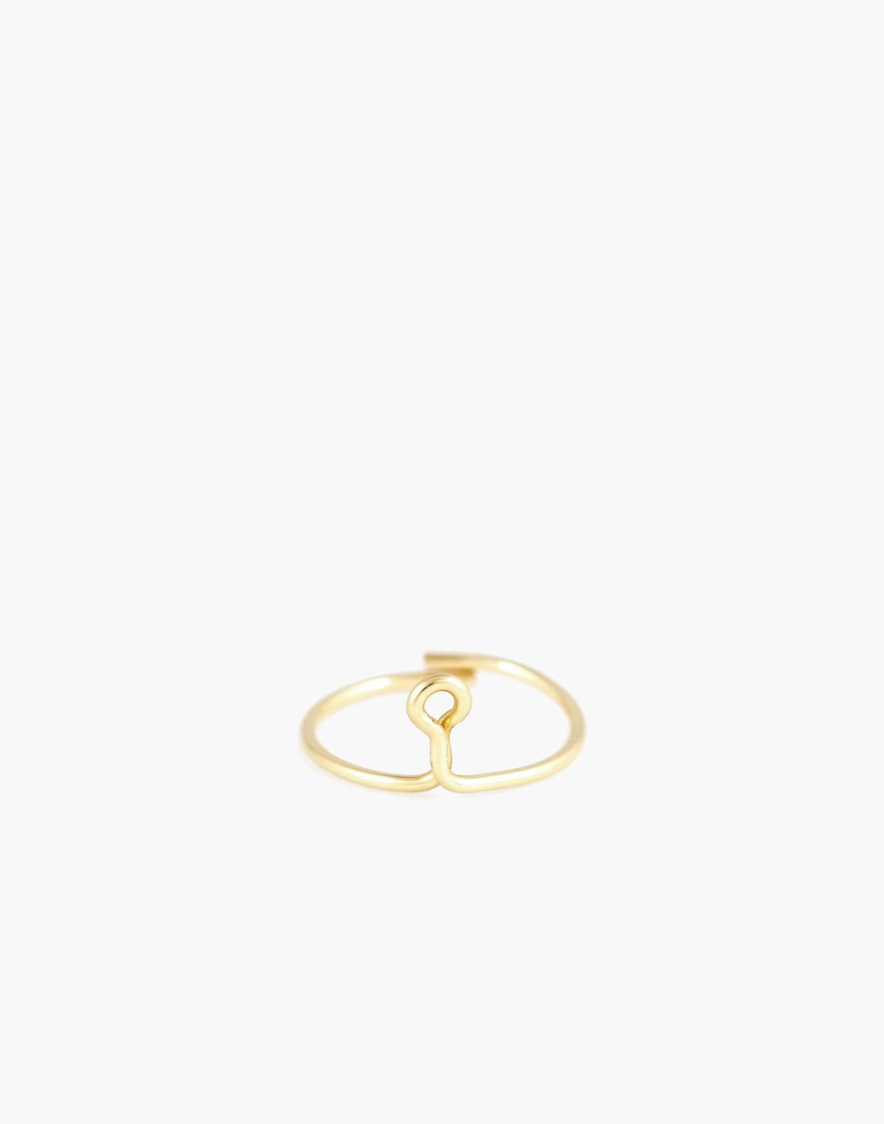 Atelier Paulin™ Poetic Letter Ring in letter i image 1