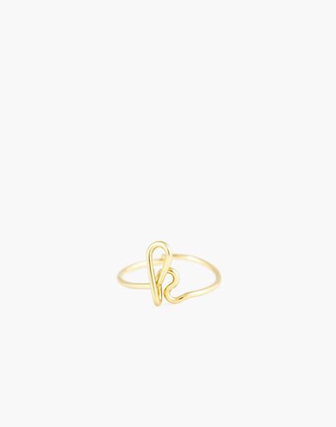 Atelier Paulin™ Poetic Letter Ring in letter k image 1
