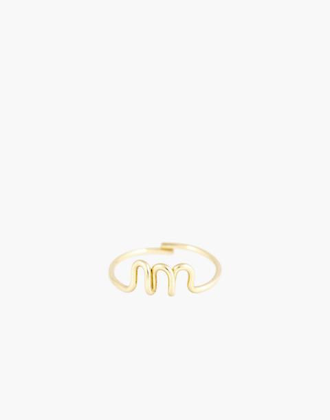Atelier Paulin™ Poetic Letter Ring in letter m image 1