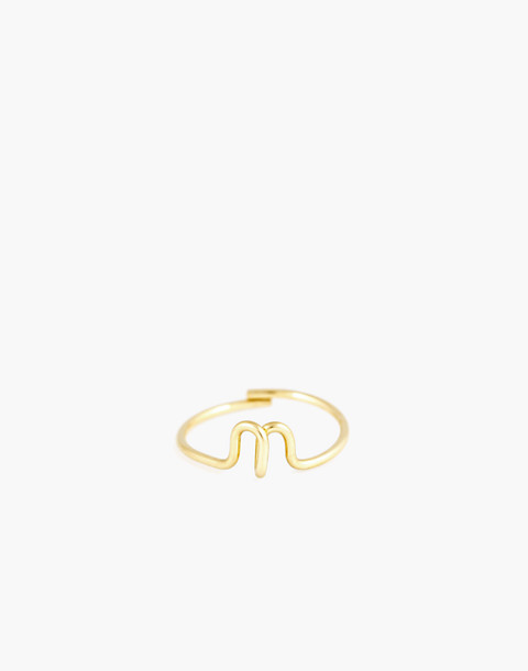 Atelier Paulin™ Poetic Letter Ring in letter n image 1
