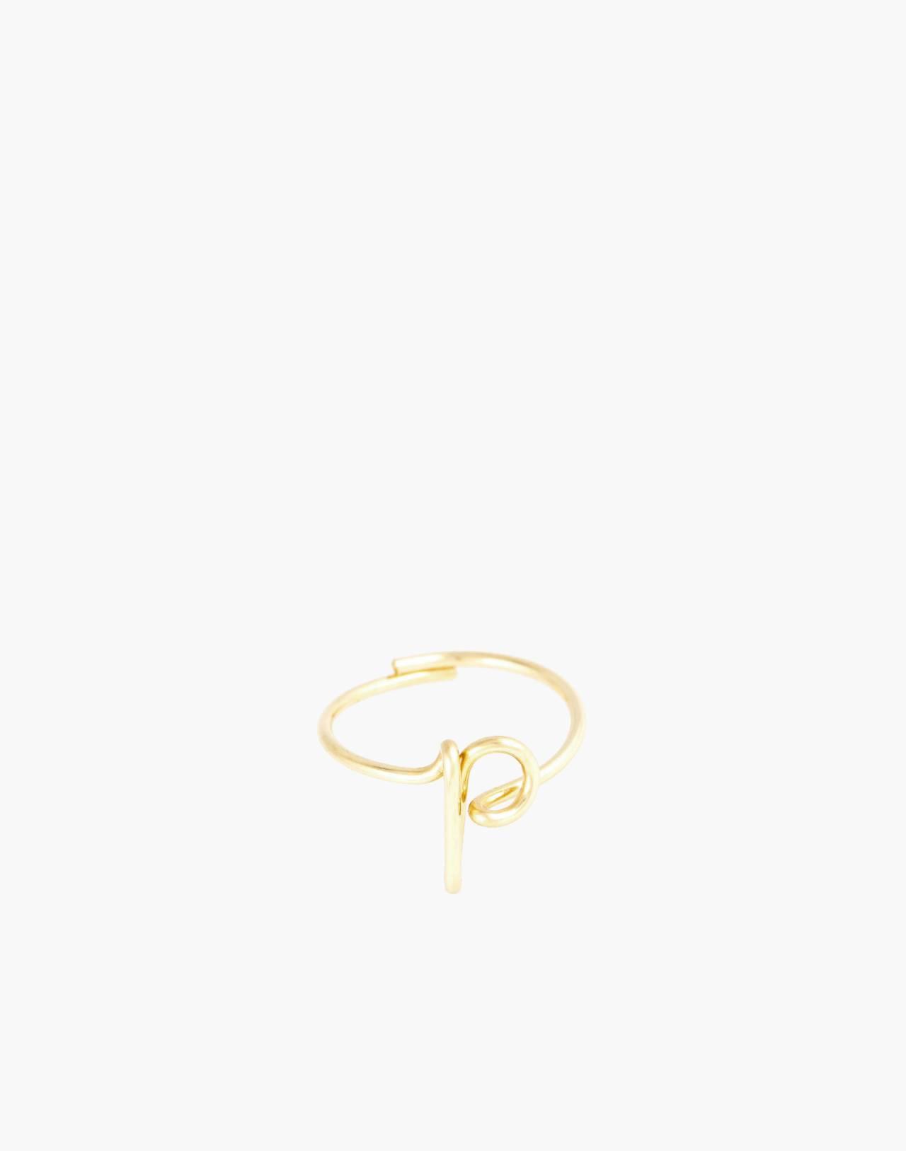 Atelier Paulin™ Poetic Letter Ring in letter p image 1