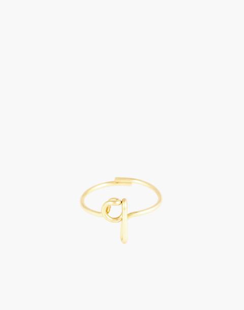 Atelier Paulin™ Poetic Letter Ring in letter q image 1