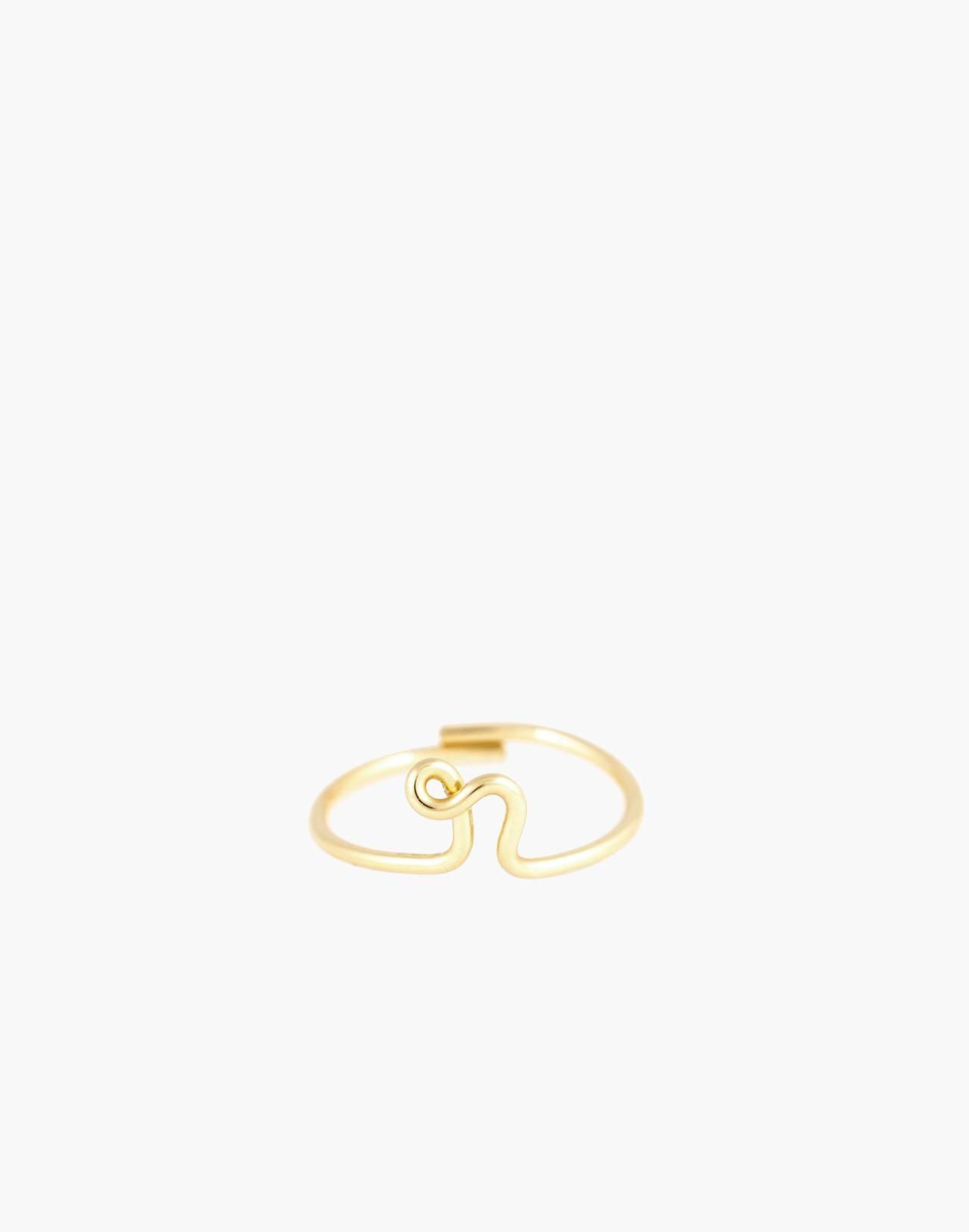 Atelier Paulin™ Poetic Letter Ring in letter r image 1