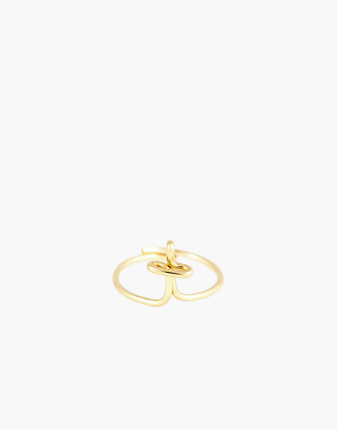 Atelier Paulin™ Poetic Letter Ring in letter t image 1