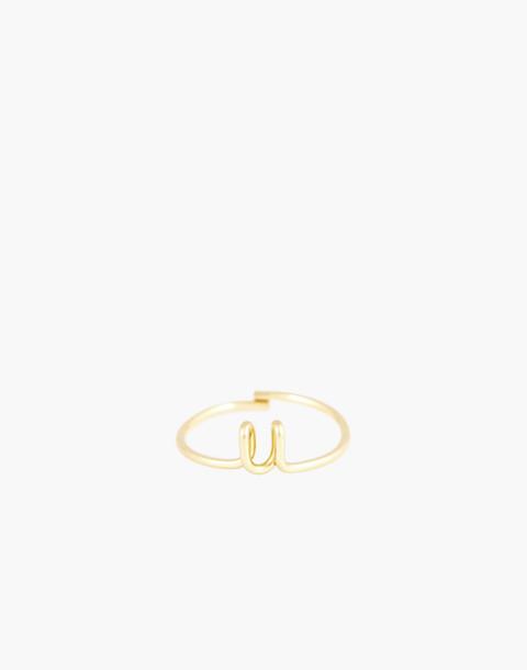 Atelier Paulin™ Poetic Letter Ring in letter u image 1
