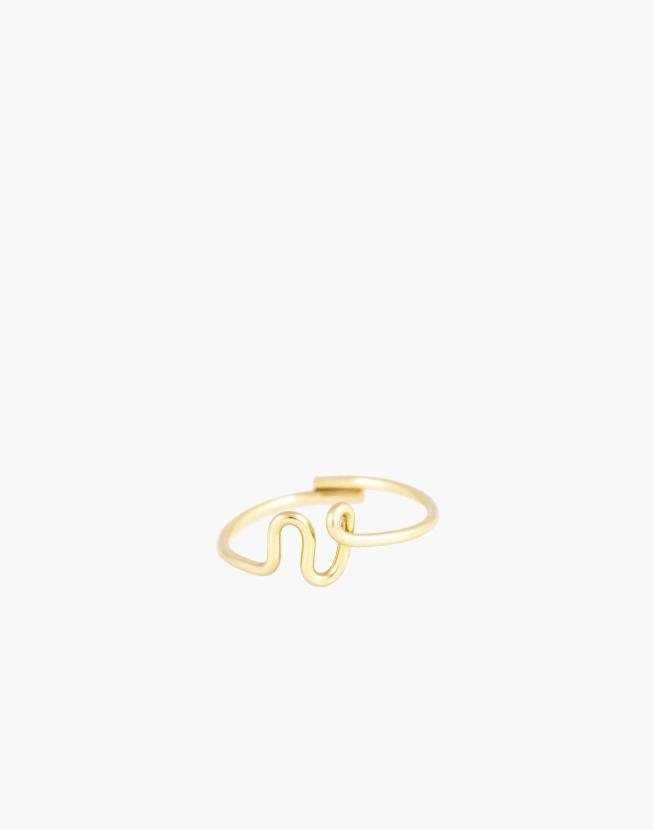 Atelier Paulin™ Poetic Letter Ring in letter v image 1