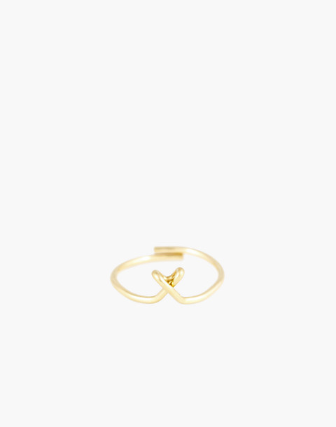 Atelier Paulin™ Poetic Letter Ring in letter x image 1