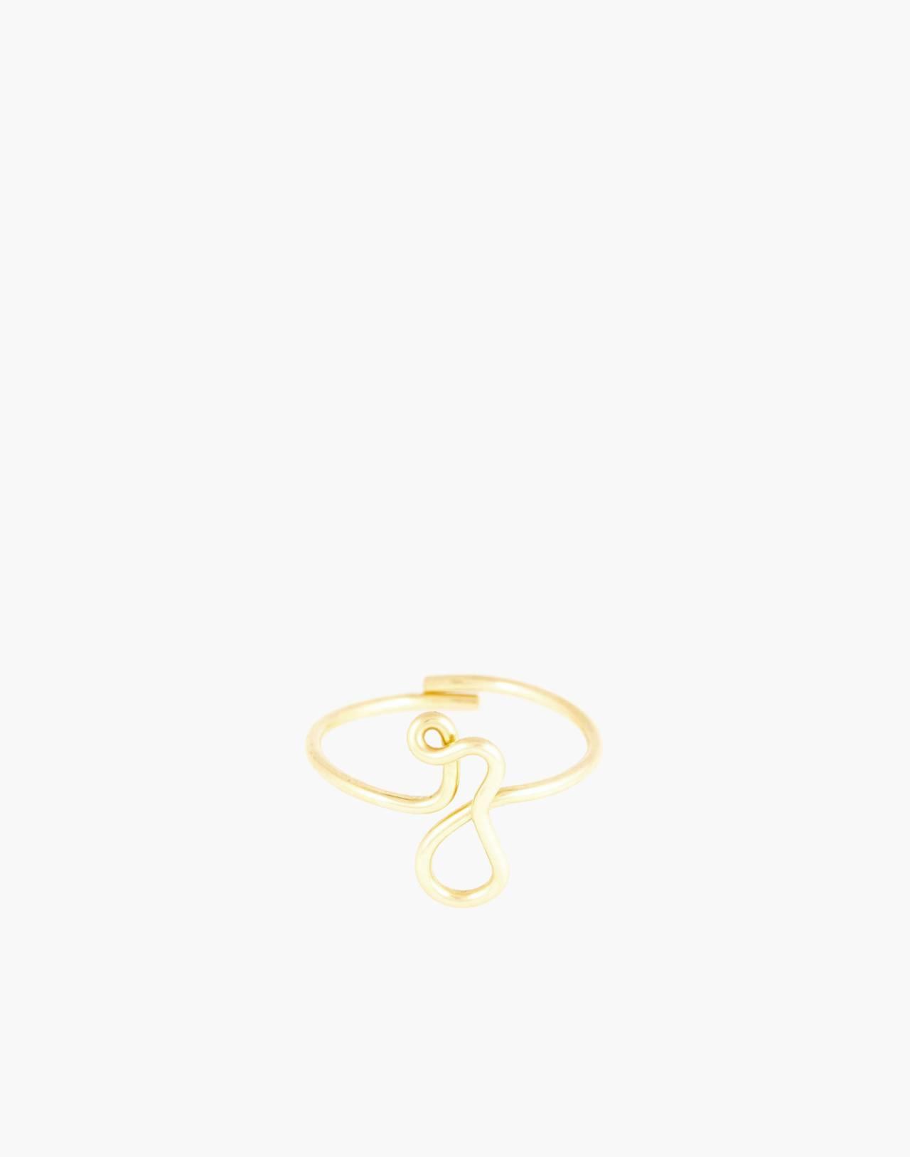 Atelier Paulin™ Poetic Letter Ring in letter z image 1