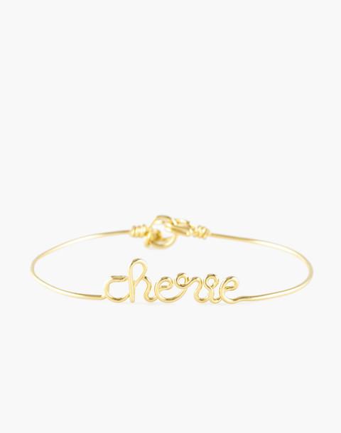 Atelier Paulin™ Ciao Bangle Bracelet in gold image 1
