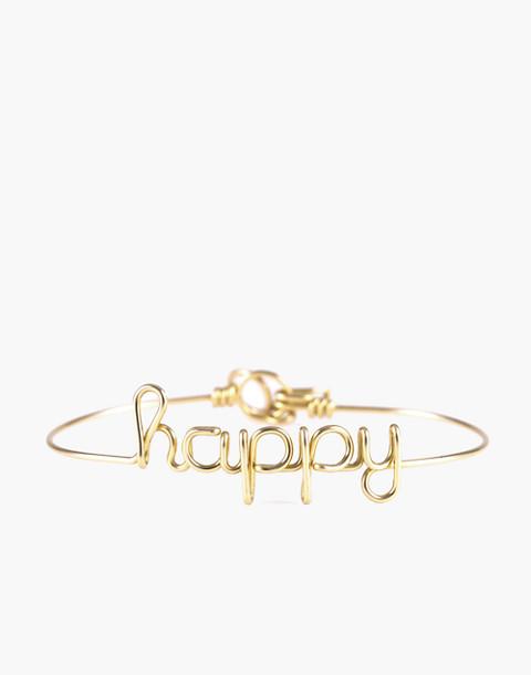 Atelier Paulin™ Happy Bangle Bracelet in gold image 1