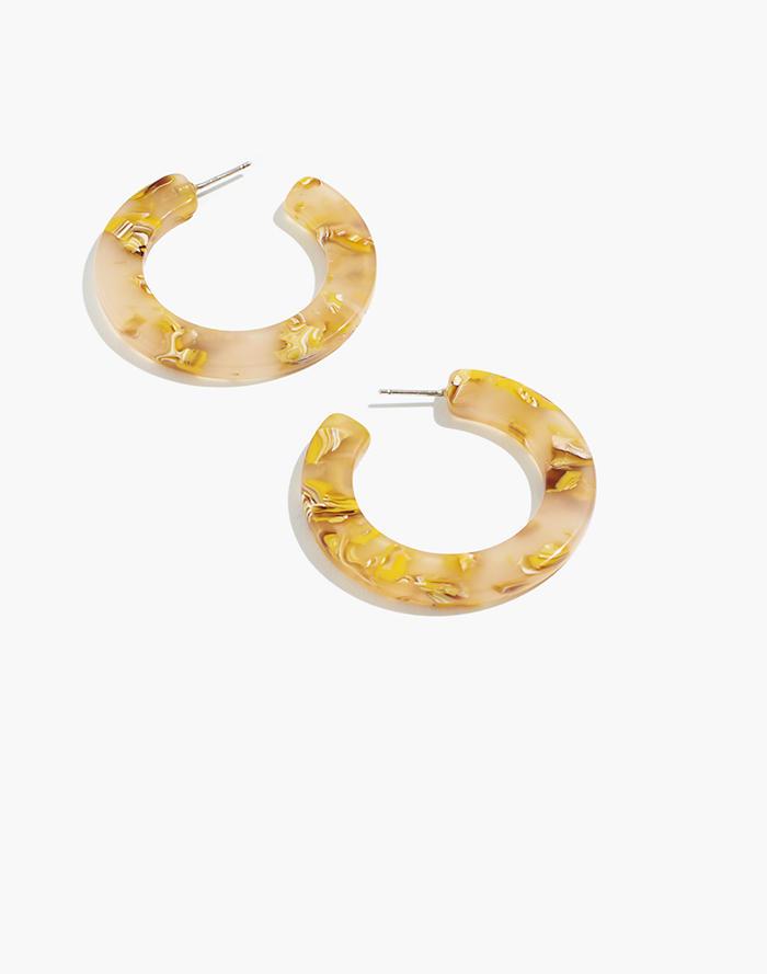 adf5fd4c8 Acetate Hoop Earrings