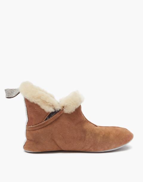 Shepherd of Sweden® Sheepskin Mariette Slippers in light brown image 1