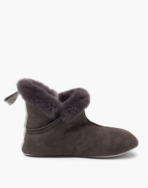 Shepherd of Sweden® Sheepskin Mariette Slippers in dark grey image 1