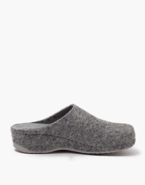 Shepherd of Sweden® Felted Wool Gitte Slippers in grey image 1