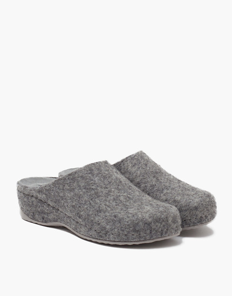 Shepherd of Sweden® Felted Wool Gitte Slippers in grey image 2