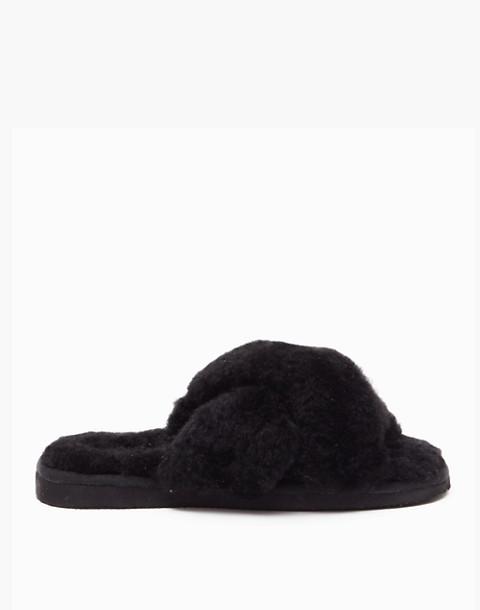 Shepherd of Sweden® Sheepskin Lovisa Slippers in black image 1
