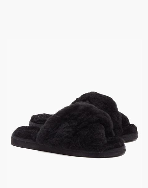 Shepherd of Sweden® Sheepskin Lovisa Slippers in black image 2