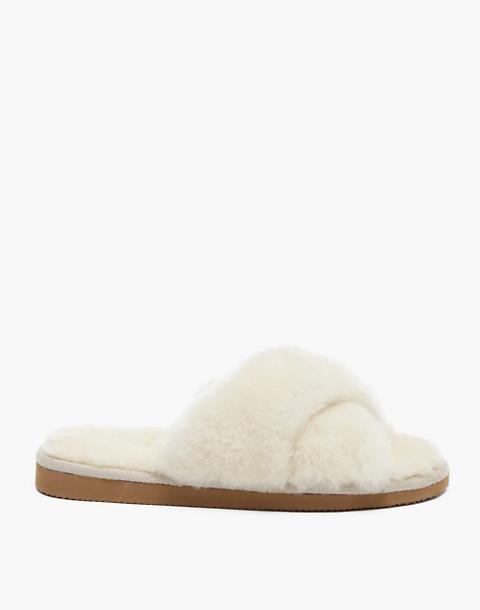 Shepherd of Sweden® Sheepskin Lovisa Slippers in white image 1