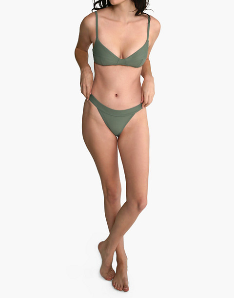 GALAMAAR® Band Brief Bikini Bottom in green image 1