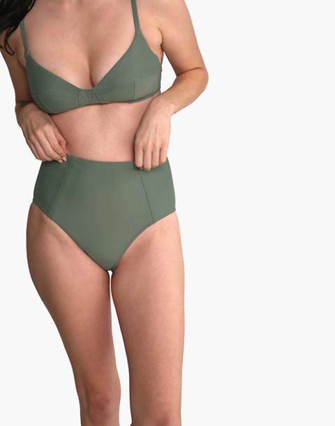 GALAMAAR® High Bikini Bottom in green image 2