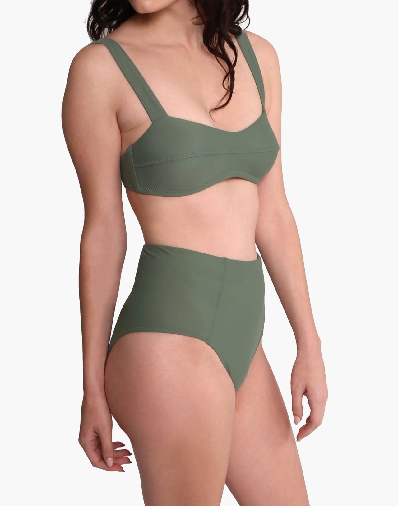 GALAMAAR® Lou Bandeau Bikini Top in green image 2