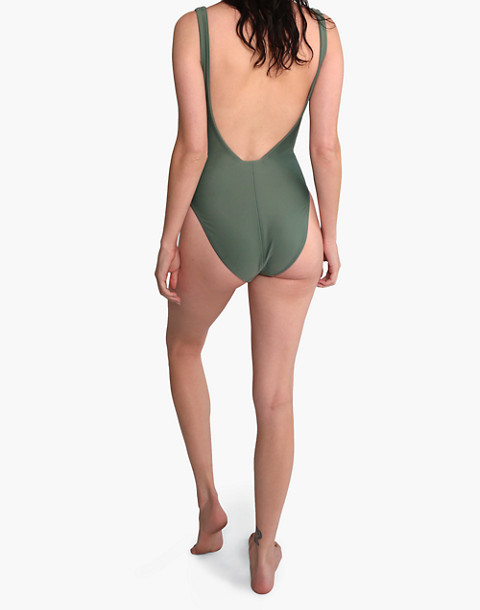 GALAMAAR® Roe Maillot One-Piece Swimsuit in green image 2