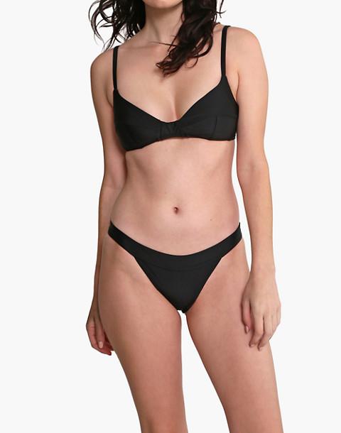 GALAMAAR® Simone Retro Bikini Top in black image 2
