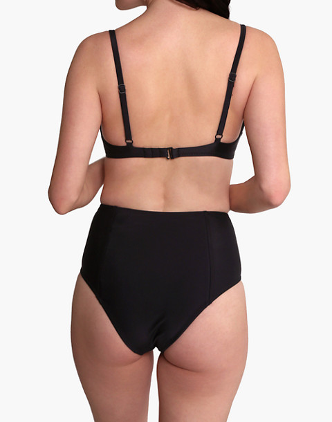 GALAMAAR® Simone Retro Bikini Top in black image 3