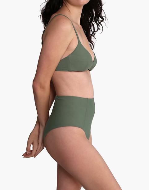 GALAMAAR® Simone Retro Bikini Top in green image 2